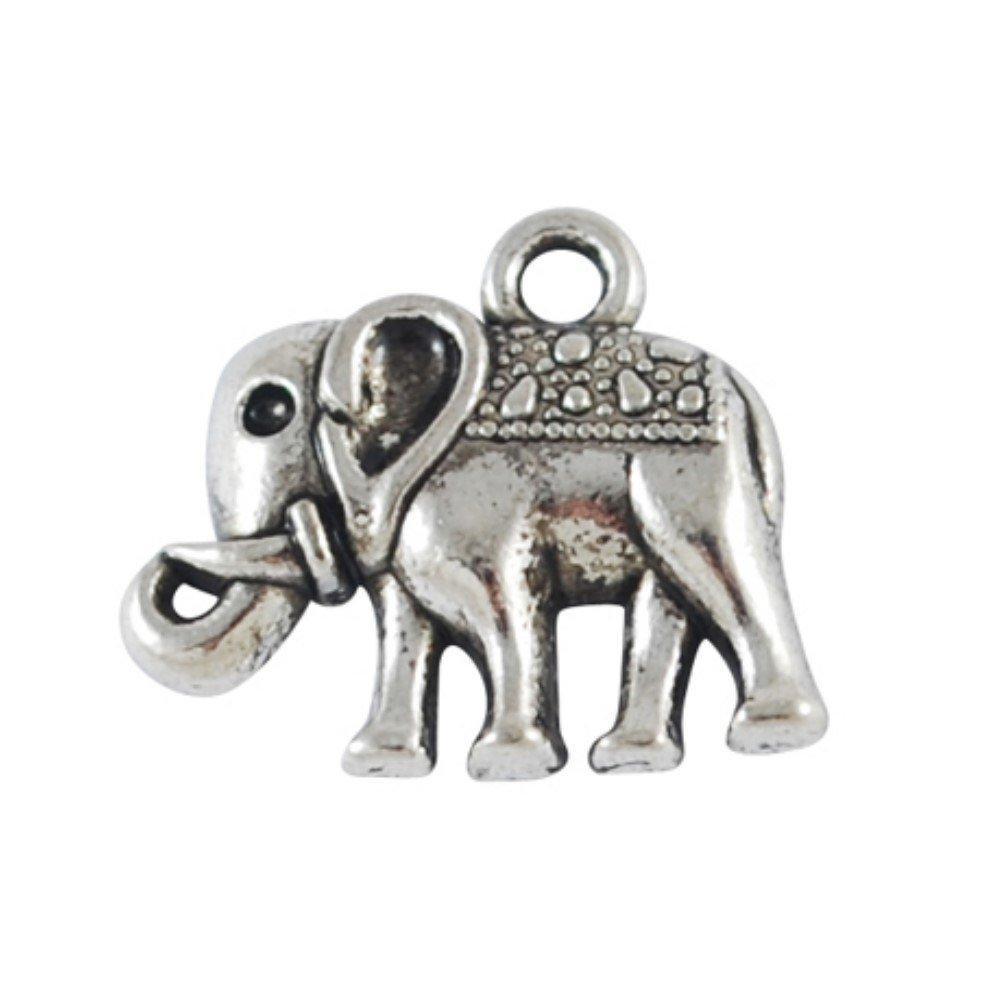 A0884 Lot de 10/pendentifs charms en alliage d/'argent tib/étain repr/ésentant un /él/éphant