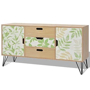 vidaxl buffet console meuble de rangement salon 110 x 35 x 57 cm mdf marron - Meuble De Salon Buffet