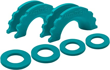 AUTOBOTS D-Ring Shackle Isolator Washers Kit 2 Pieces Shackle Isolator 4 Pieces Washers for 3//4 Inch Shackle Gear Design Rattling Protection Shackle Cover Blue