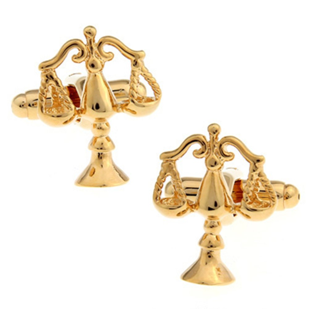 Libra Judge Lawyer Scales of Justice Cufflinks (Gold) Vodafor