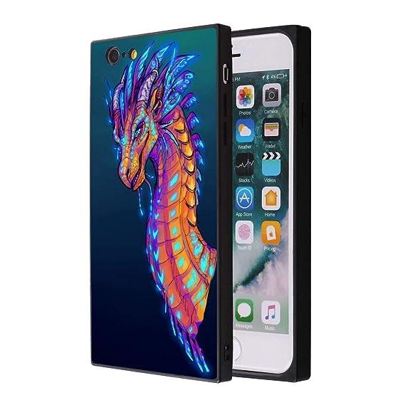 designer fashion 40ae4 61840 Amazon.com: Galaxy Dragon iPhone 6s Plus 6 Plus Case, Soft Flexible ...