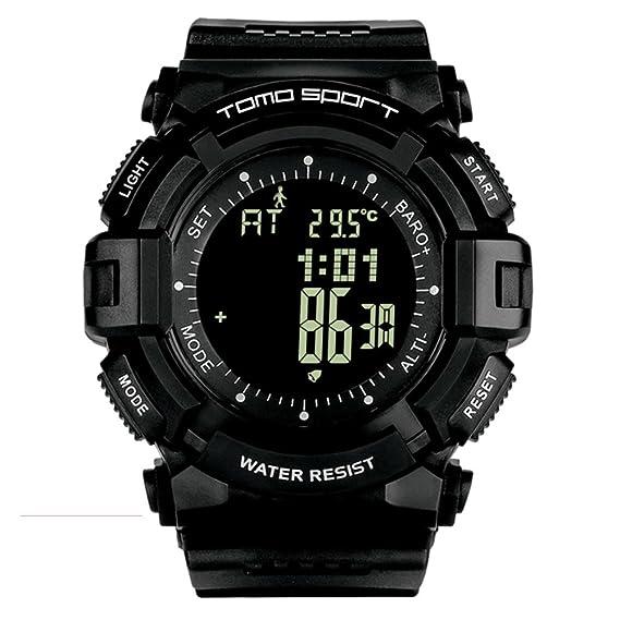 homme S impermeable al agua multifuncional exterior Digital reloj deportivo, alpinismo Nager Record de