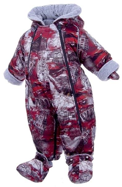 Bebé niño invierno traje isosoft acolchado con capucha – St Moritz – Saco de dormir