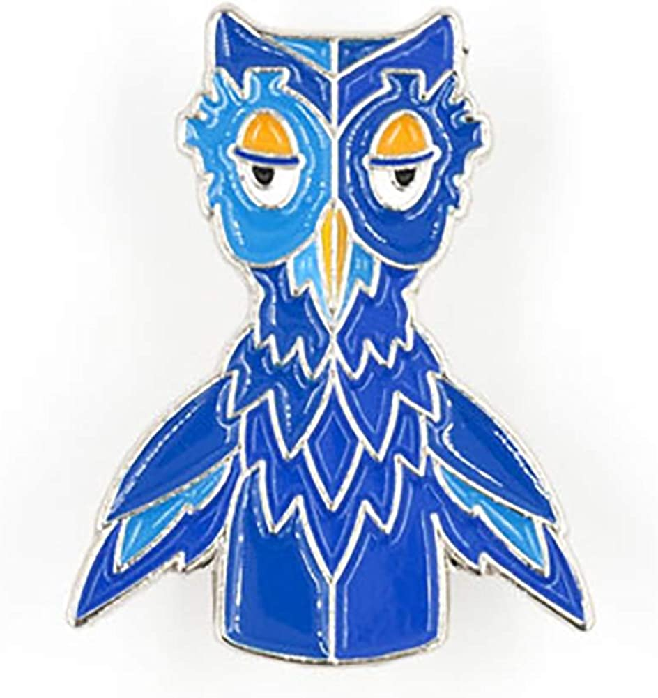 and Rat Magnet or Pin Set Ginger Wizard Owl