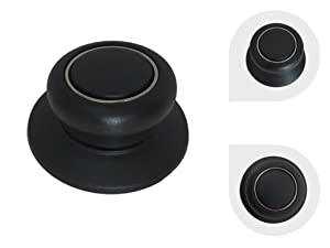 Melzon Cookware Universal Replacement Lid Knob – Heat Resistant, Bakelite Kitchen Pot Lid Handle, Black w/Silver Lining