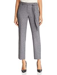 Karl Lagerfeld Paris Womens Tweed Pant with Tie Pants