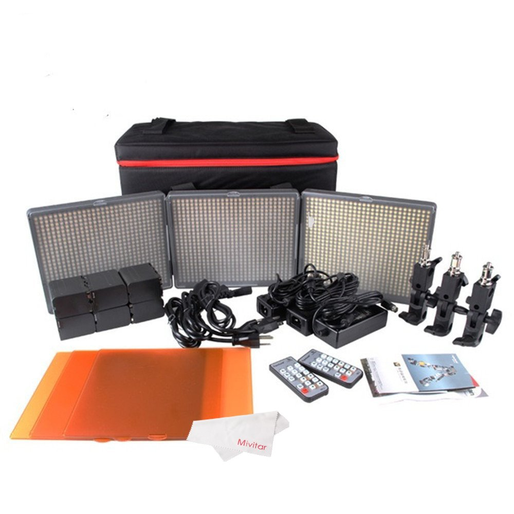Aputure 672 Led Video Light Panel HR672KIT (HR672S + HR672W*2) Studio Lighting Kit with 2.4G FSK Wireless Remote Control