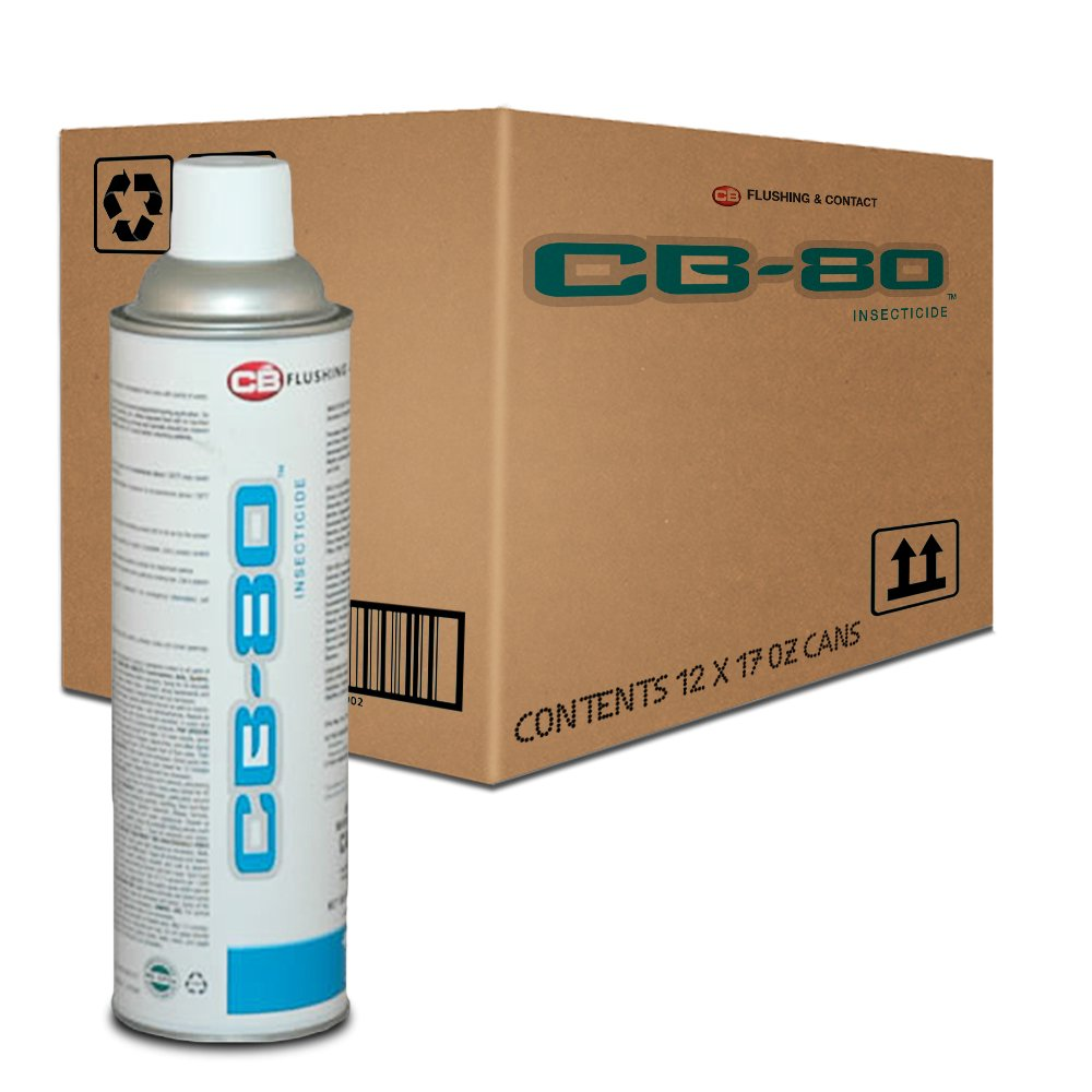 CB 80 .5% Pyrethrin Contact Kill - 1 Case - 17 oz. Cans X (12) by CB2 (Image #1)