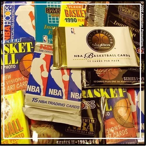 300 Unopened Basketball Cards Collection in Factory Sealed Packs of Vintage NBA Basketball Cards From the Late 80's and Early 90's. Look for Hall-of-famers Such As Larry J. Bird, Earvin