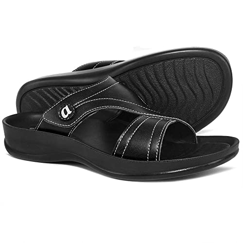 4bed43a32f9c AEROTHOTIC Orthotic Comfort Midfoot Strap Sandals and Flip Flops with Arch  Support for Comfortable Walk (