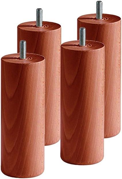 AltoBuy Juego de 4 Patas 15 cm Cerezo para somier: Amazon.es ...