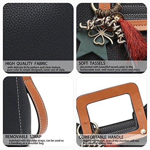 Bowling Women Handbags Handbags Briefcase Handbags Shoulder Leather Fekete For rtqEr