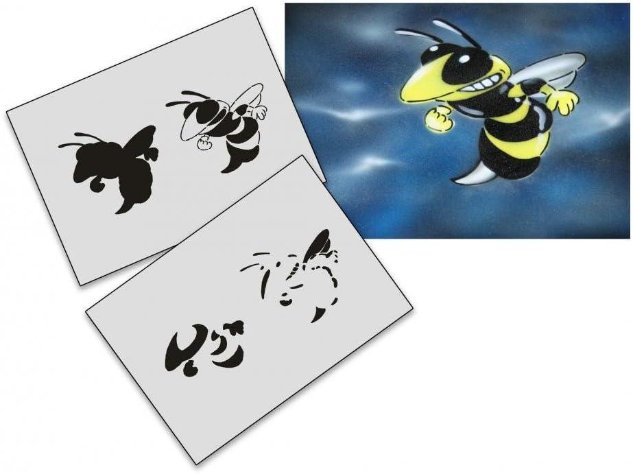 UMR-Design AS-018 Bee Airbrushstencil by SALENEW very popular! XL Sale price Step Size