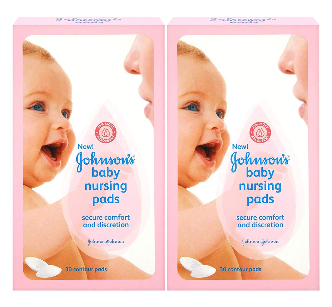 Johnson's Nursing Pads, Contour, 30 Disposable Pads, (Pack of 2) by Johnson's