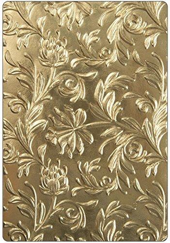 Tim Holtz Sizzix 3D Texture Fades Embossing Folders - Botanical and Mechanics - 2 item bundle