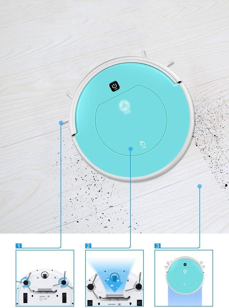 Robot Aspirateur 3 en 1, fonction balai, aspirateur et laveur de sol 100 min d'autonomie et jusqu'à 150m² (Color : Pink) Pink