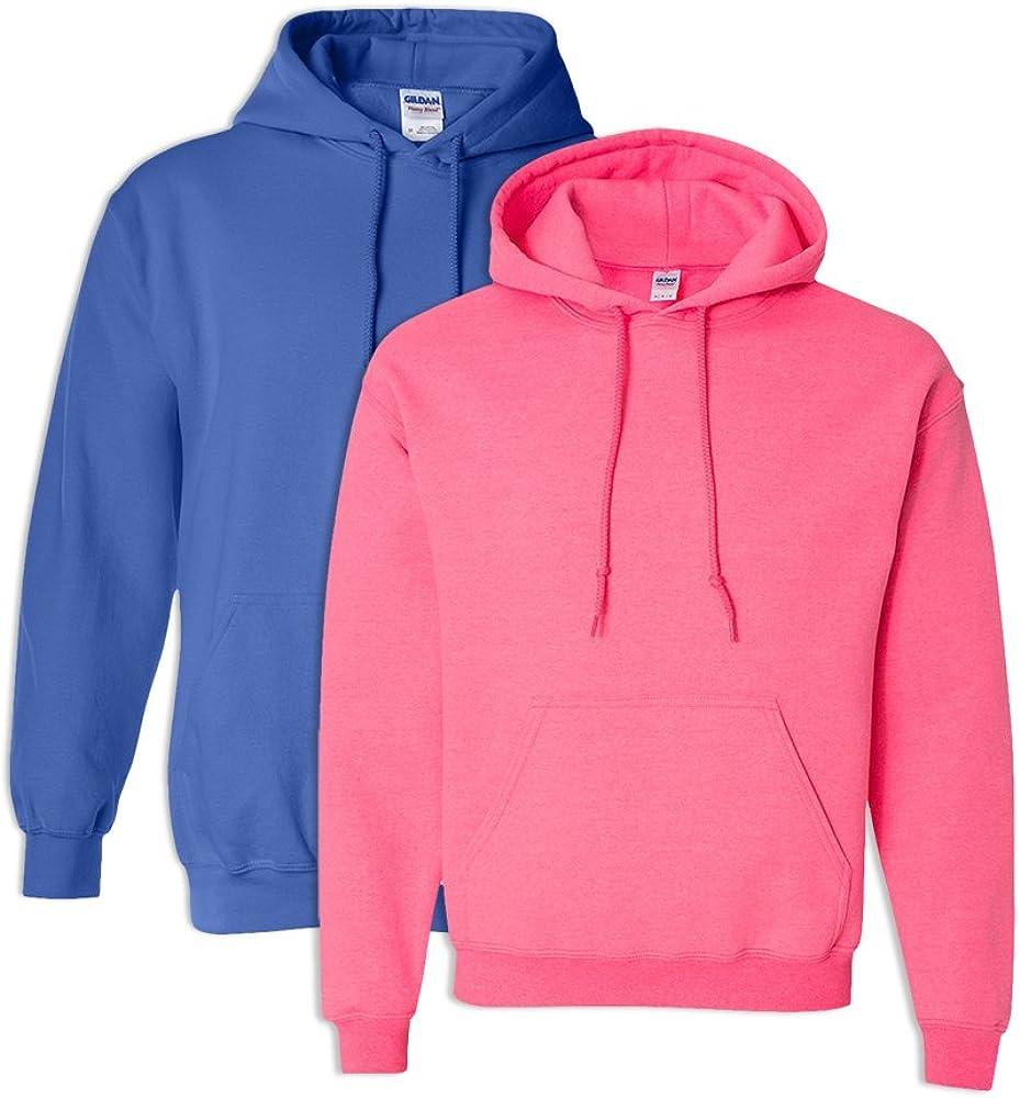 Gildan G18500 Heavy Blend Adult Hooded Sweatshirt 2XL 1 Royal 1 Safety Pink