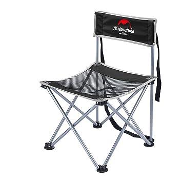 Al aire libre portátil respaldo silla plegable silla de pintura barbacoa silla de playa de camping , black: Amazon.es: Deportes y aire libre
