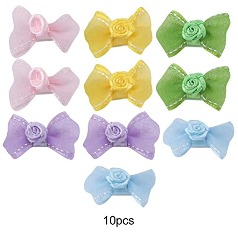 Nitrip 10 Unids/Set Lovely Pets Hair Clips Bowknot Clip ...