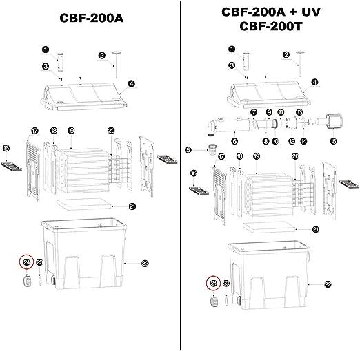 SunSun Pi/èce d/étach/ée Bague filet/ée de Sortie CBF-200T//CBF-200U//CBF-200