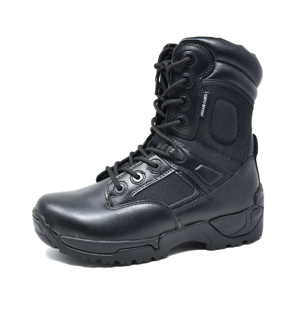 DREAM PAIRS Men's Delta-M Black 8'' inches Military Tactical Work Boots Size 9.5 M US