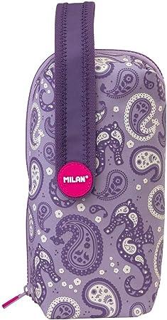 Milan 08872DP Kit 4 Estuches con Contenido Drops Estuches, 22 cm, Morado: Amazon.es: Equipaje