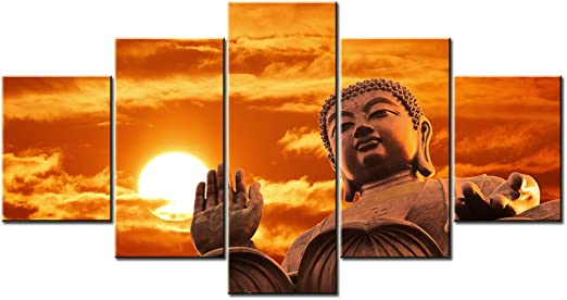 BUDDHA SUNSET CANVAS PICTURE PRINT WALL HANGING ART HOME DECOR FREE DELIVERY