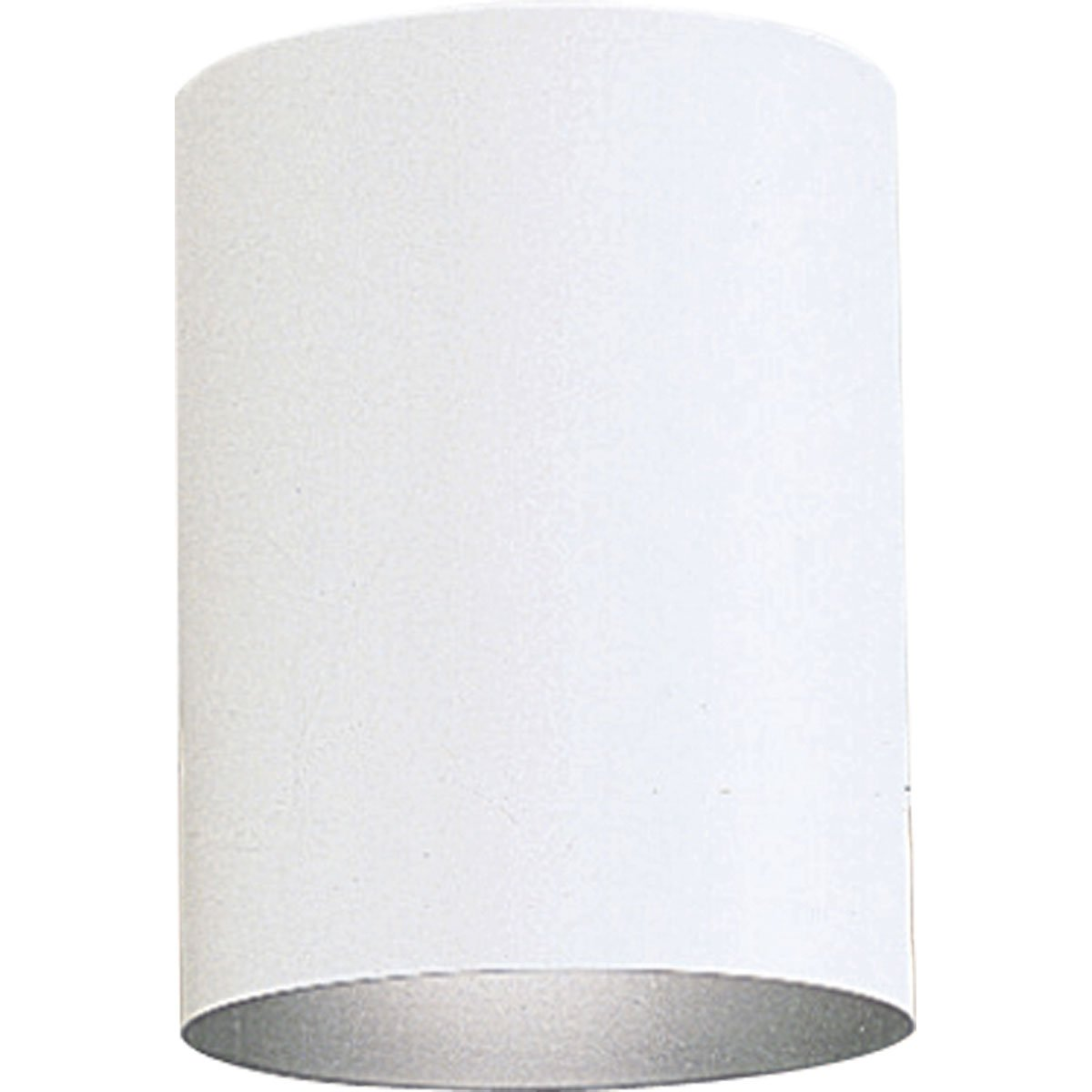 Progress Lighting P5774-30 5-Inch Flush Mount Cylinder with Heavy Duty Aluminum Construction Powder Coated Finish and UL Listed For Wet Locations, White