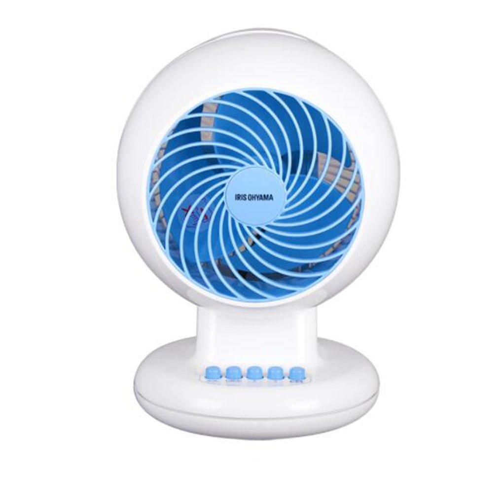 FH テーブルファン空気循環ファンホームタービン空気対流電動ファンデスクトップシェイキングヘッドファン (Color : Blue) B07FMSCM4L Blue