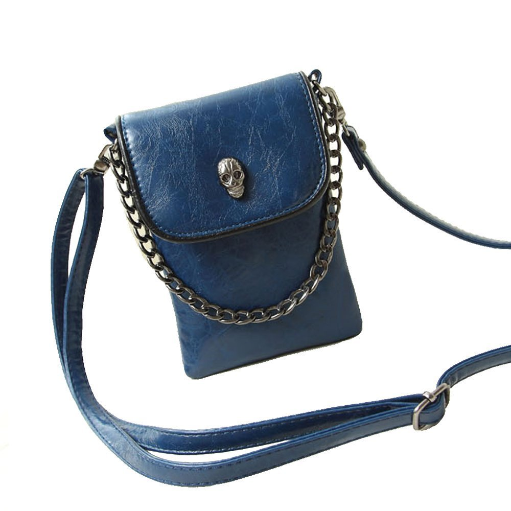 Studded Skull Gothic Mini Chain Crossbody Shoulder Bag Satchel Travel Leather Tote Handbag Purse by Fakeface (Image #1)