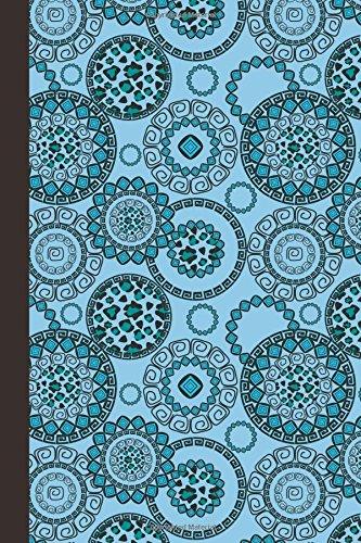 Journal: Animal Print Mandala (Blue) 6x9 - DOT JOURNAL - Journal with dotted pages (Mandala Design Dot Journal Series)