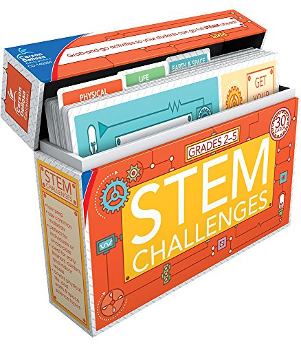 Carson Dellosa - STEM Challenges Learning Cards for Grades 2-5, 30 Activity Cards, Ages 7-11 with Resource Guide from Carson-Dellosa