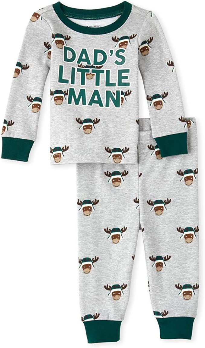 The Childrens Place Baby Boys Top and Pants Pajama Set