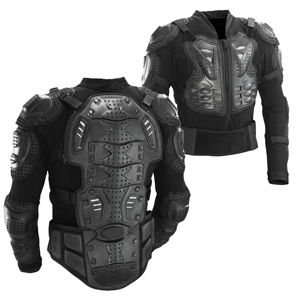 Ediors® Motorcycle Full Body Armor Protector Pro Street Motocross ATV Titan Sport Jacket Shirt (Medium)