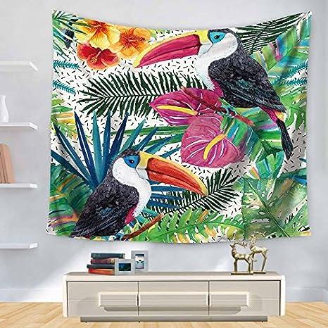 JCDZH-FT Regalo de navidad plantas tropicales Imprimir Decoracion Tapiz Toalla de playa manteles, 150 * 130 cm: Amazon.es: Hogar