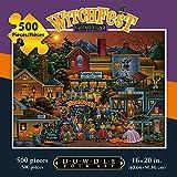 Jigsaw Puzzle - Gardner Village Witchfest 500 Pc By Dowdle Folk Art