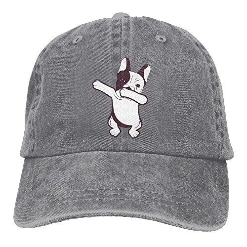MNBHat Dabbing French Bulldog Adjustable Cotton Cap Ash ()