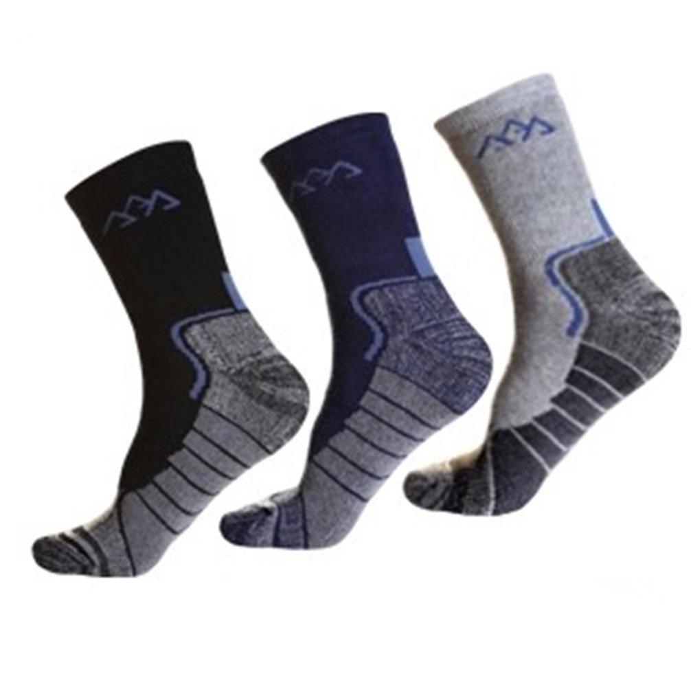 Noga Coolmax 3 Pack de montaña al aire libre hombres calcetines deportivos calcetines calientes absorben la humedad calcetines y medias gruesas escalada artrodesis