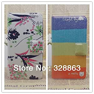 ModernGut 14 New,Flower Paris Eiffel Tower vintage PU Leather Flip Cover Case for Gionee GN800 ,With Card SlotsCamera Hole