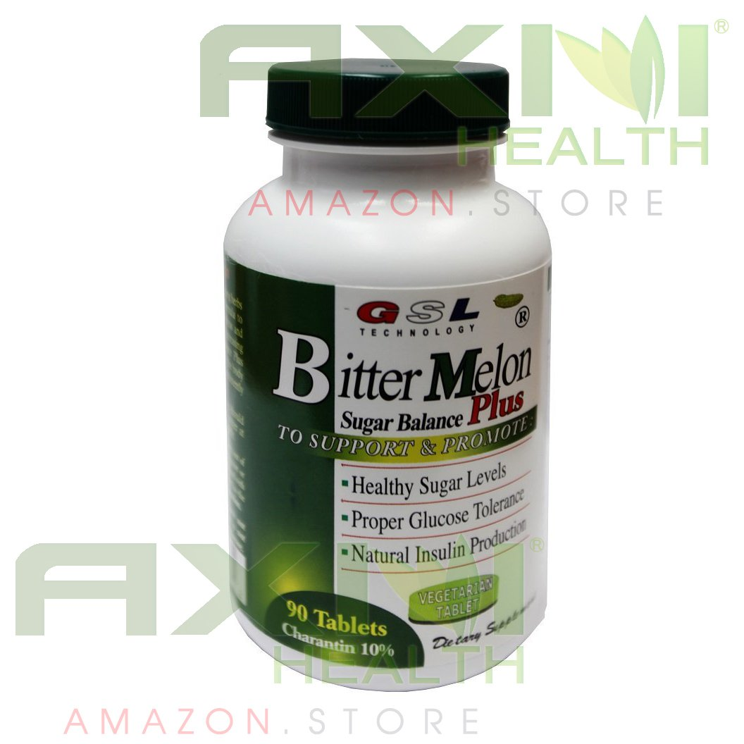 GSL Bitter Melon Sugar Balance Plus 90 Tablets/Bottle(2 Packs)