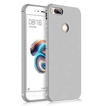 SPAK Xiaomi Mi 5X,Xiaomi Mi A1 Funda,Alta Calidad TPU Ultra Delgado Cubierta de Protección de Silicona para Xiaomi Mi 5X,Xiaomi Mi A1 (Plata)