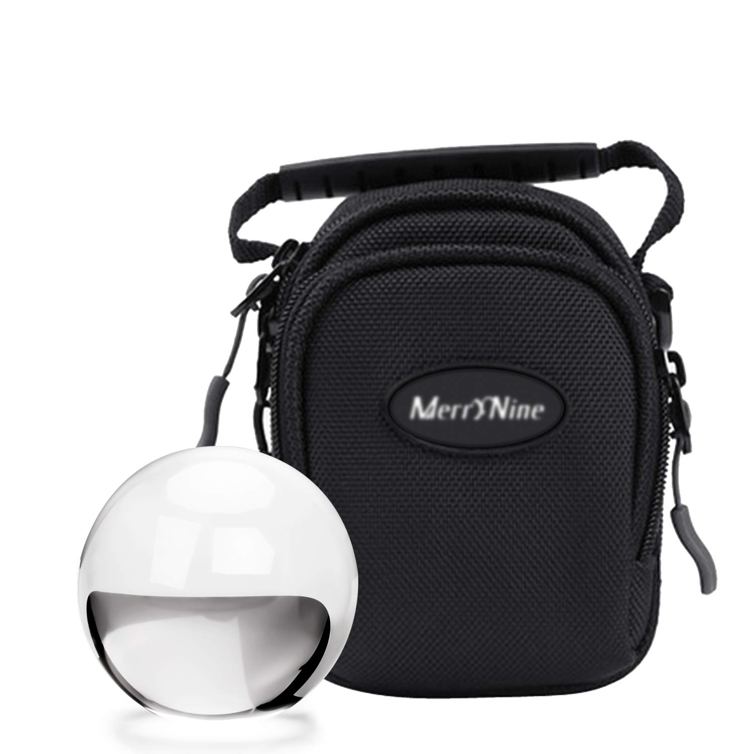 MerryNine Crystal Ball with Ball Case Bag Set, K9 Crystal Photography Ball, Including Microfiber Pouch and Crystal Ball Manual, Perfect Photography Accessories (60mm/2.36'')