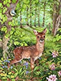 Caroline's Treasures CDCO0504GF European Roe Deer Fawn Garden Flag, Small, Multicolor