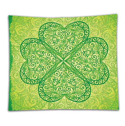 Beshowereb Fleece Throw Blanket St. Patricks Day Green Traditional Shamrock Unique Custom Decor Spring Holiday Gifts and Decorations i
