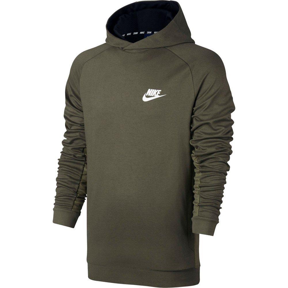 Nike Felpa Sportiva con Cappuccio Mens Homme Uomo Verdone