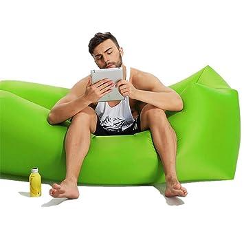 Saco de dormir hinchable de 21 gramos, sofá hinchable, salón de aire, sofá