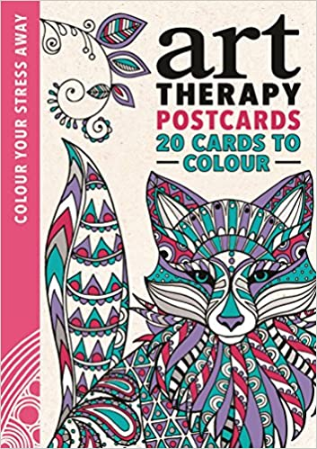 Buy Art Therapy Postcards Colour Your Stress Away Book Online At Low Prices In India