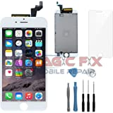 White iPhone 6S LCD Display Touch Screen Digitizer Assembly Screen Replacement Full Set With Repair Tools and Tempered Glass