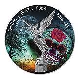 2016 1OZ Ounce Silver Mexican Libertad Dia de Muertos Edition Coin .999 Rare!