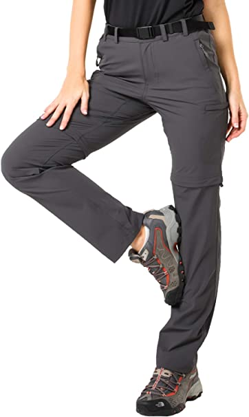 MIER Womens Water Resistant Convertible Cargo Pants Quick Dry Zip Off Hiking Pants Lightweight and Stretch 6 Pockets